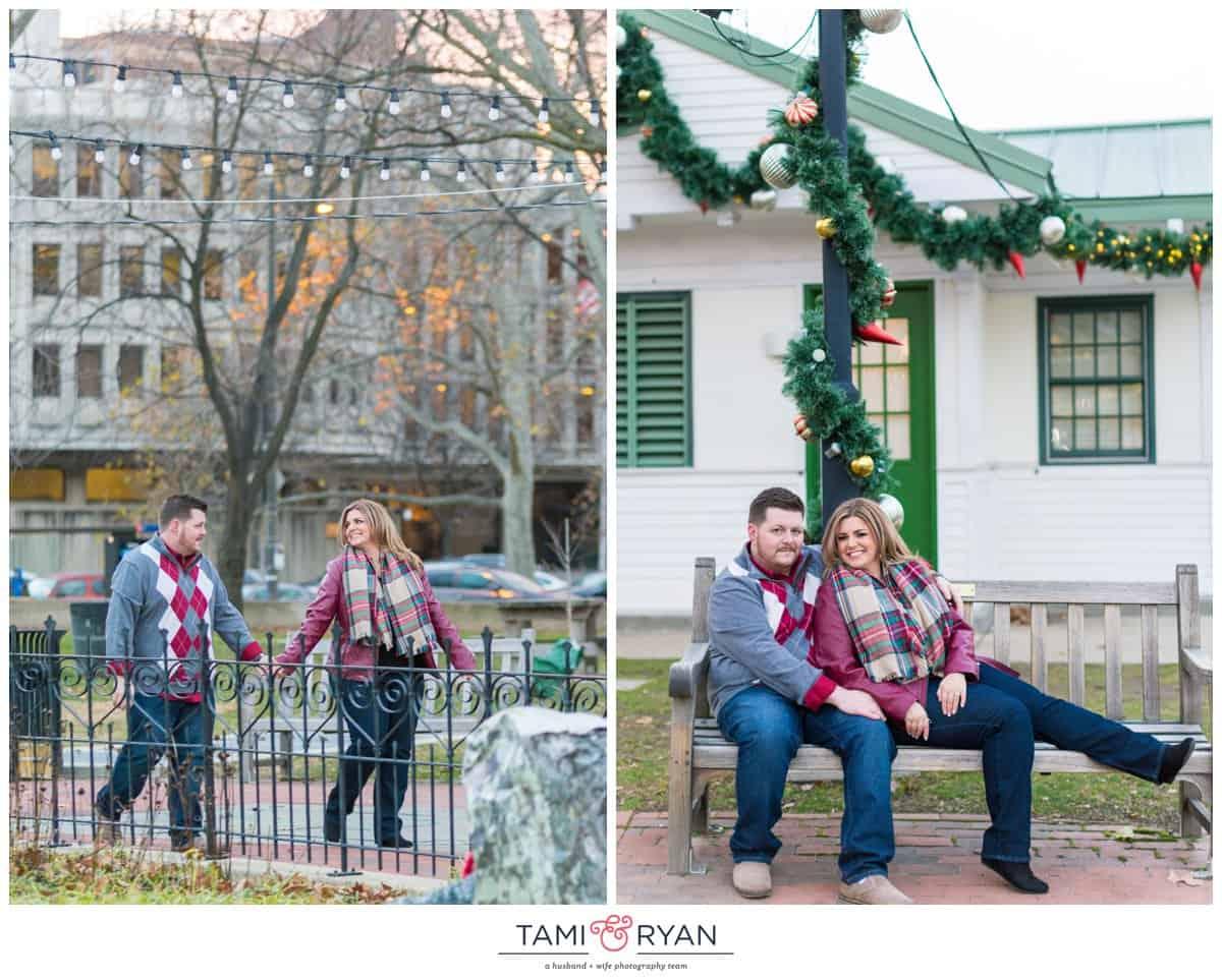 A Christmas Time Franklin Square Park Engagement Session