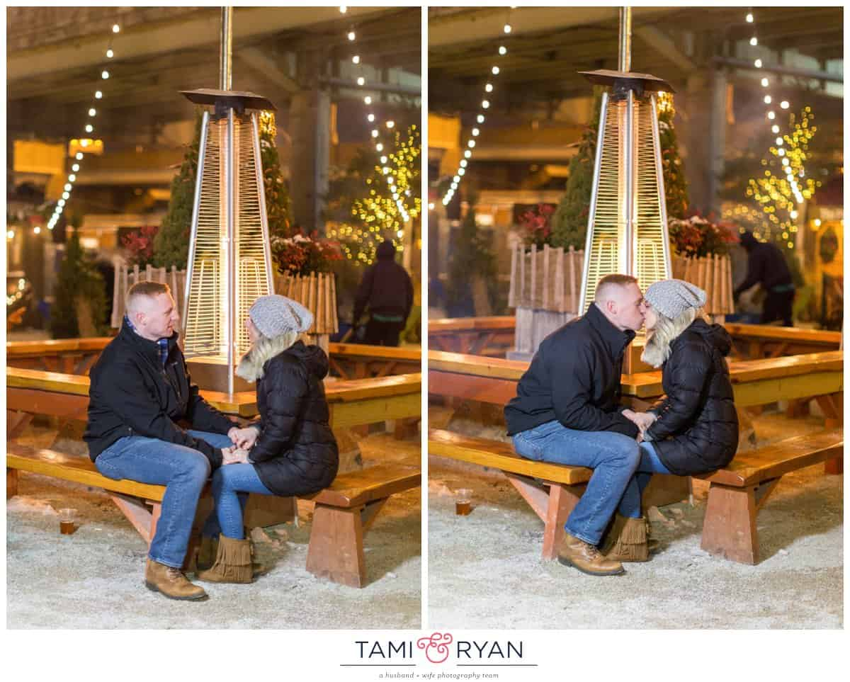 A Surprise Proposal while Ice Skating at the Blue Cross River Rink ...