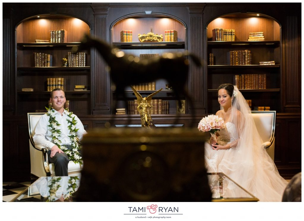bride groom park chateau library
