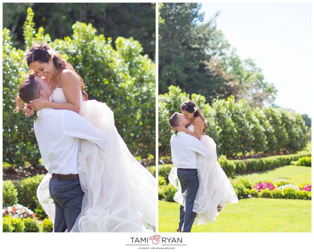 bride groom park chateau patio