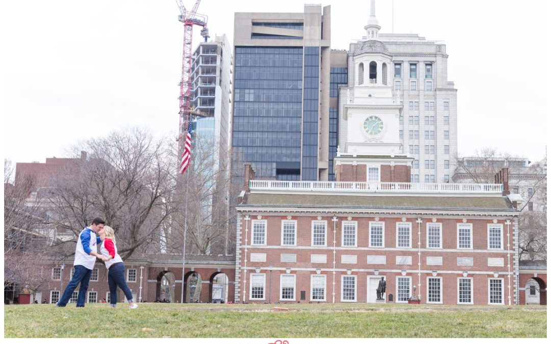 A Historic Independence Hall Philadelphia Engagement Session | Mackenzie & Armand
