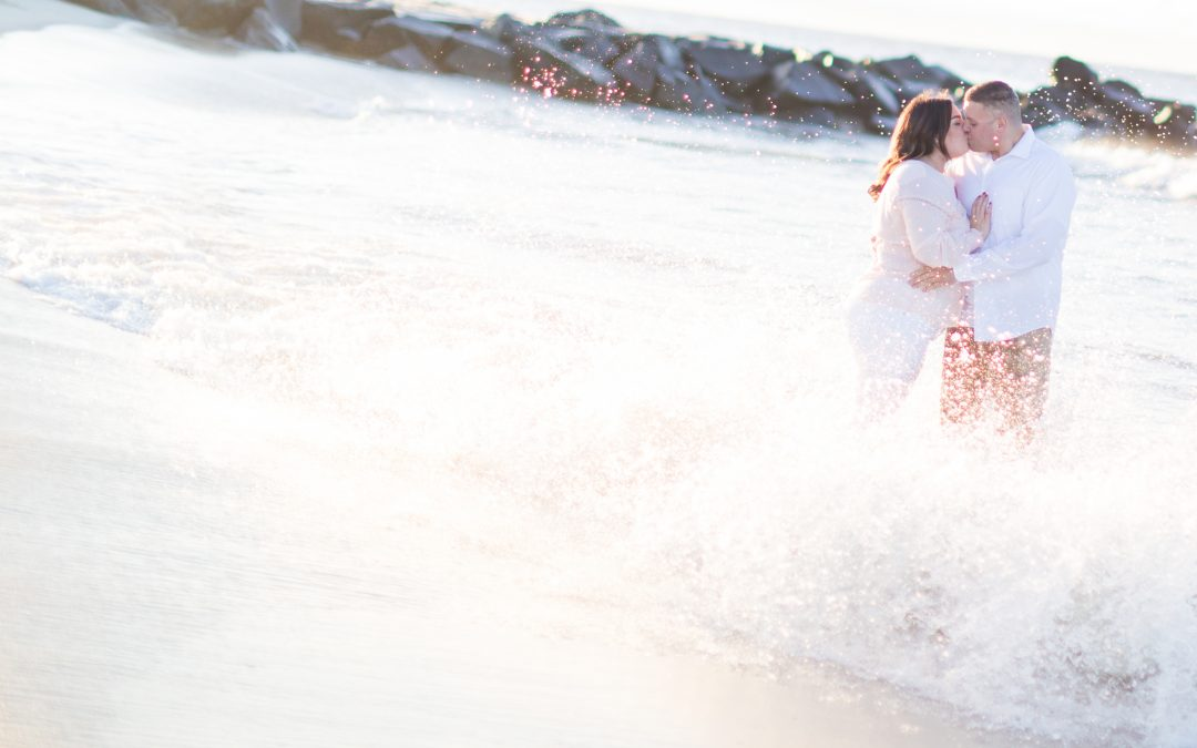 A Sunrise Engagement in Cape May at the Beach and Winery | Stephanie & Matt