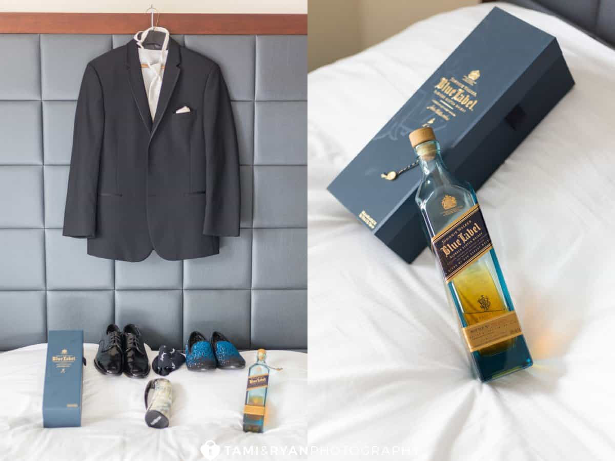 groom suit shoes johnny walker socks