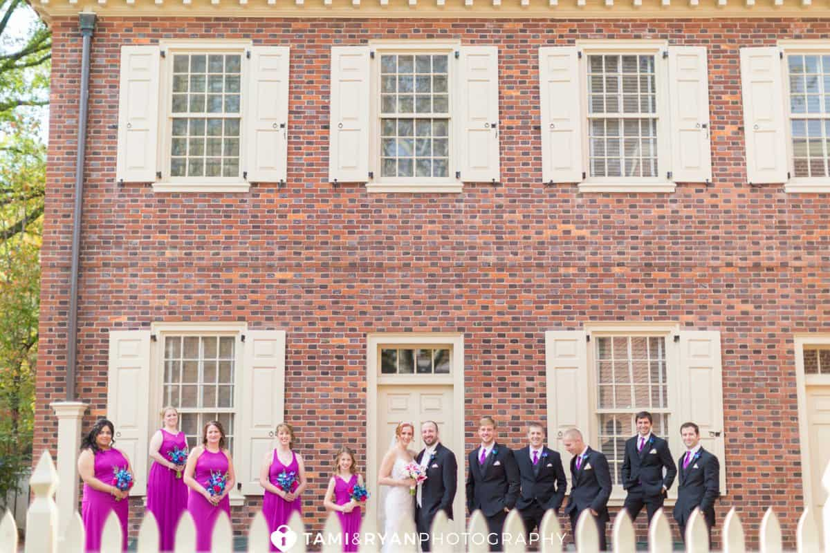 bridal party carpenters historic hall