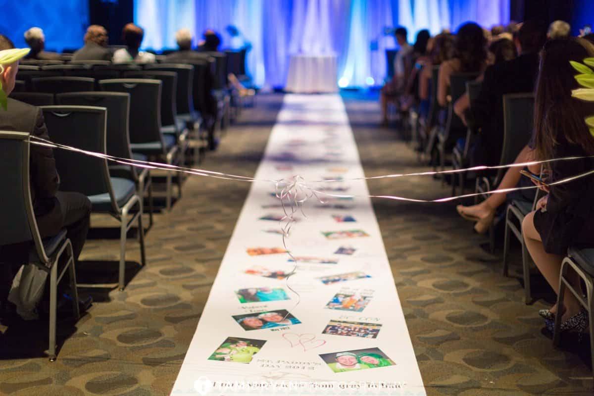 unique ceremony aisle runner
