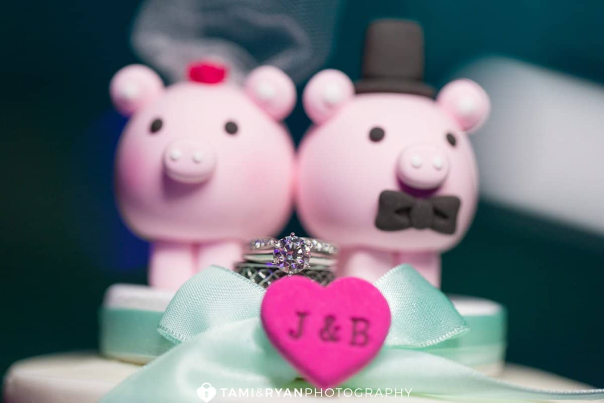 wedding rings pig