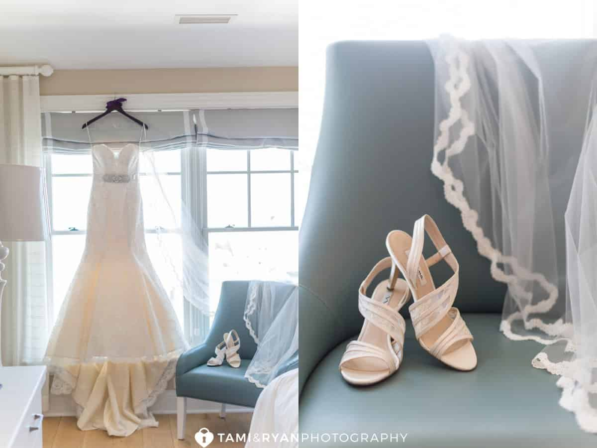 bride dress gown shoes