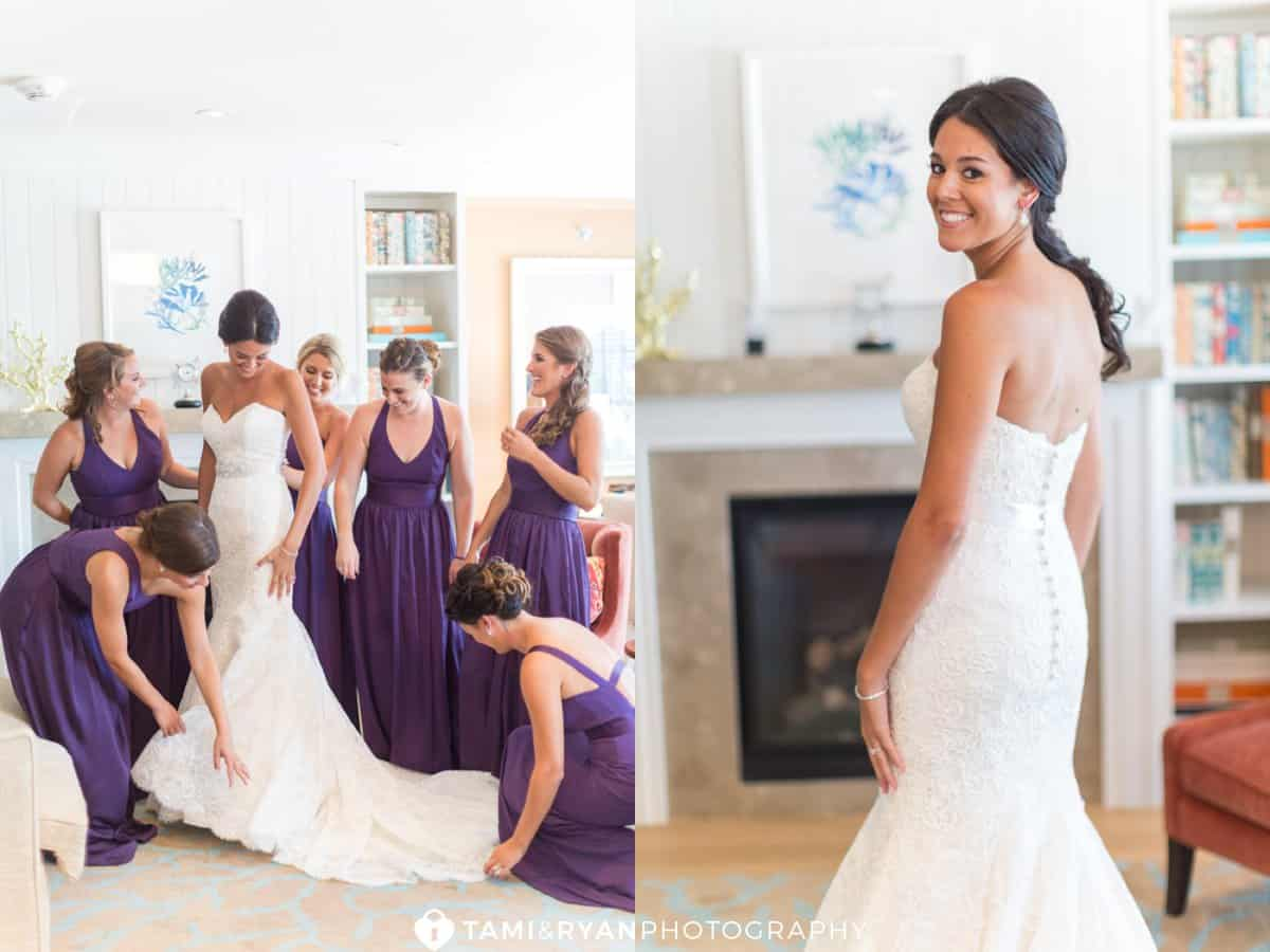bridal portrait bridesmaids