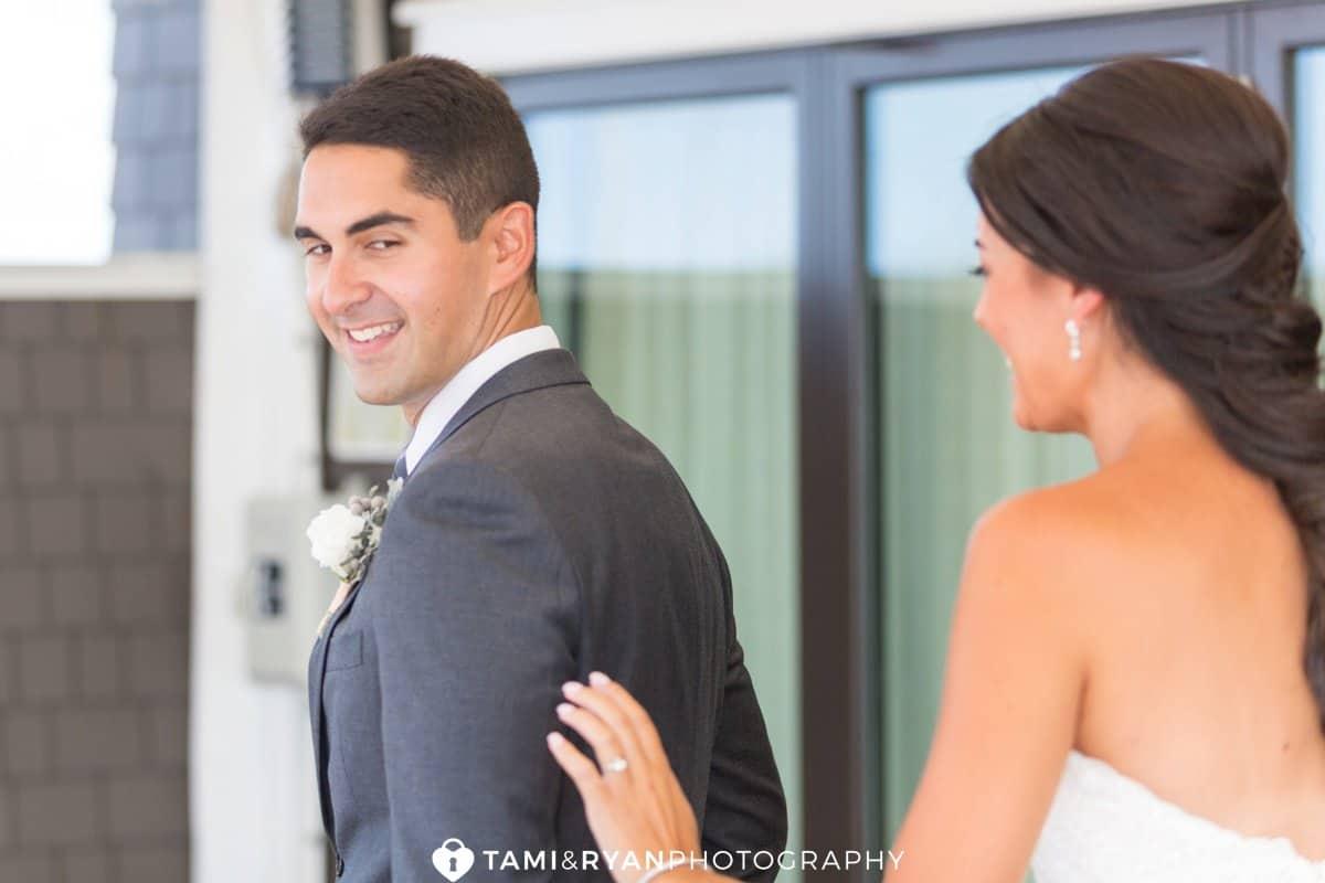groom see bride first look