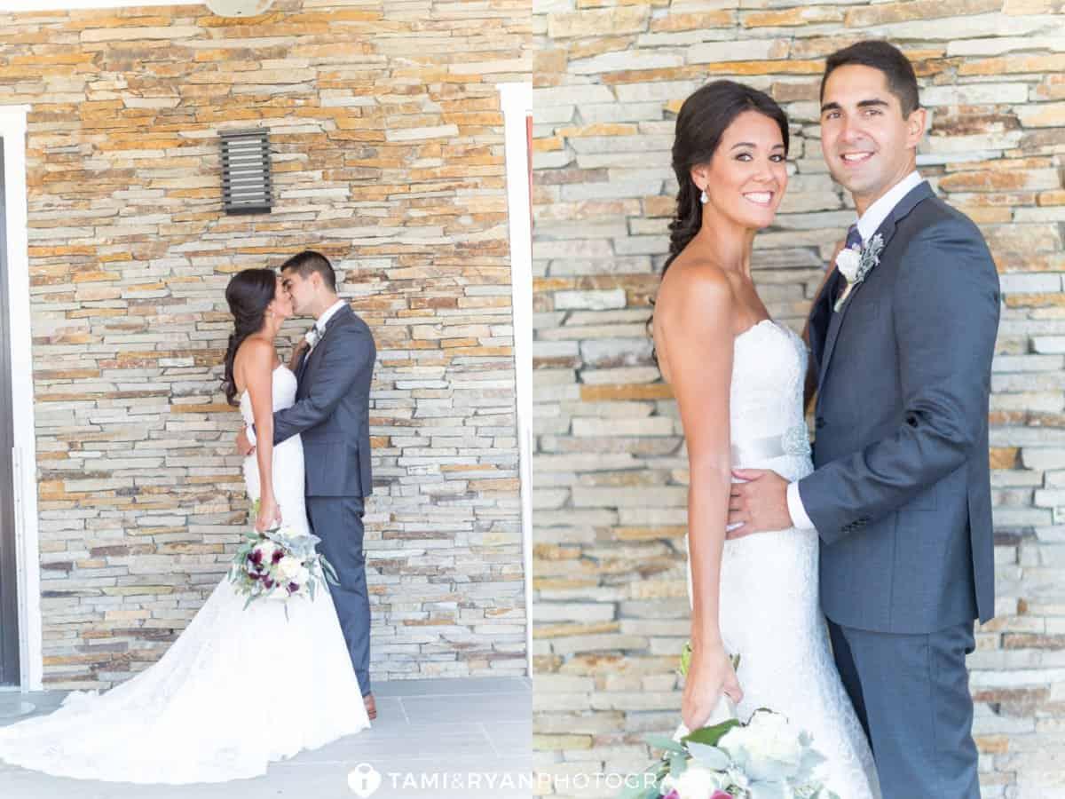 bride groom stone wall