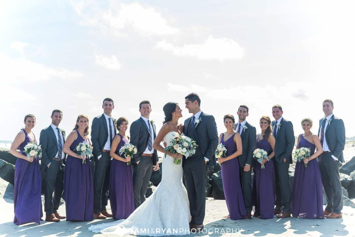 bride groom bridal party