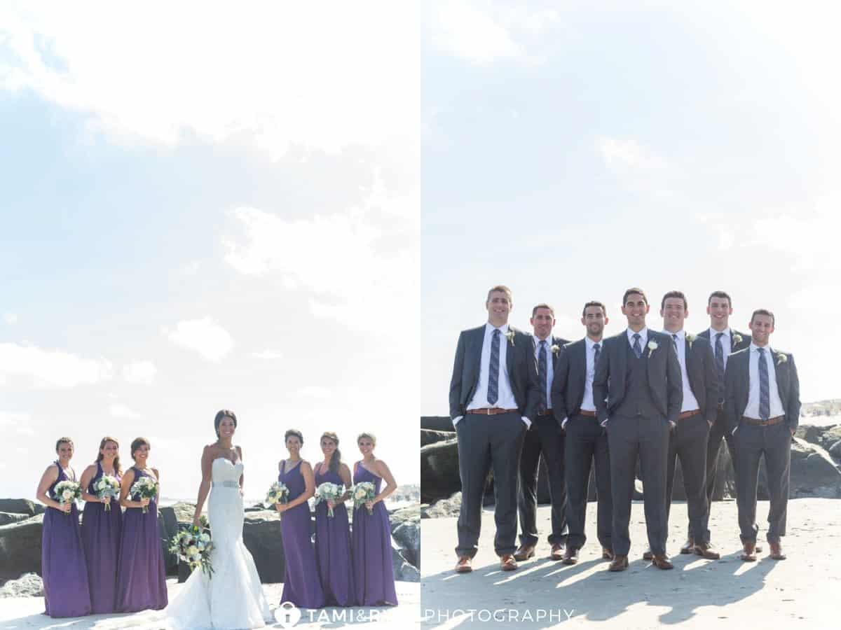 bride bridesmaids groom groomsmen