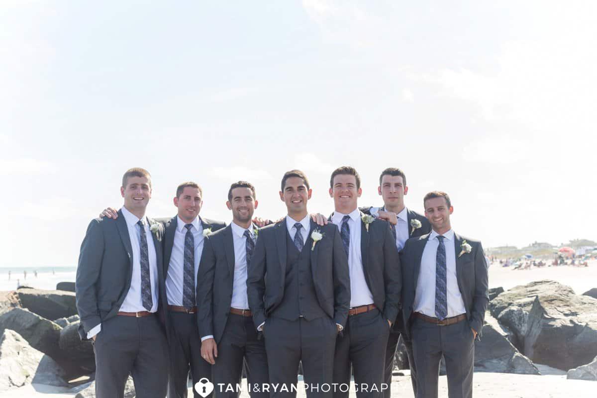 groom groomsmen gray suits