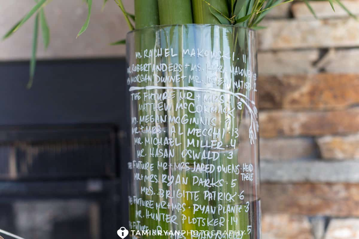 seating chart idea bamboo