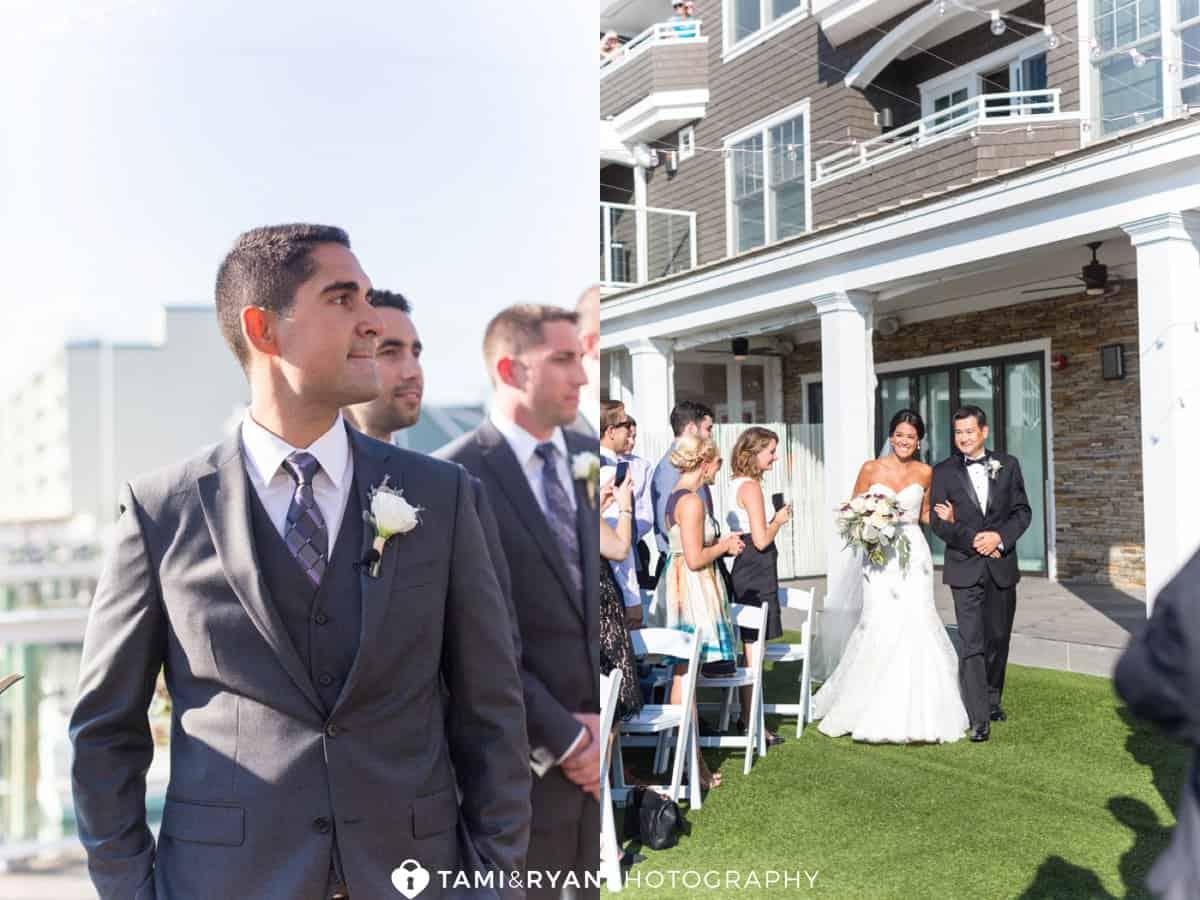 ceremony groom bride father