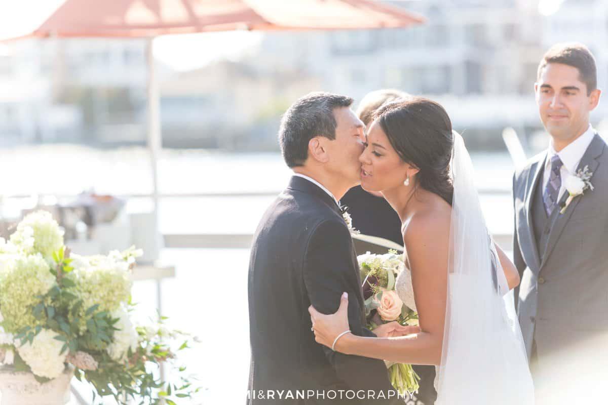 bride kiss father