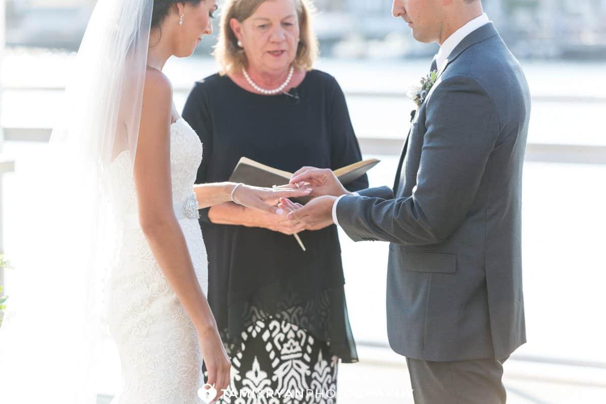 ring exchange bride groom