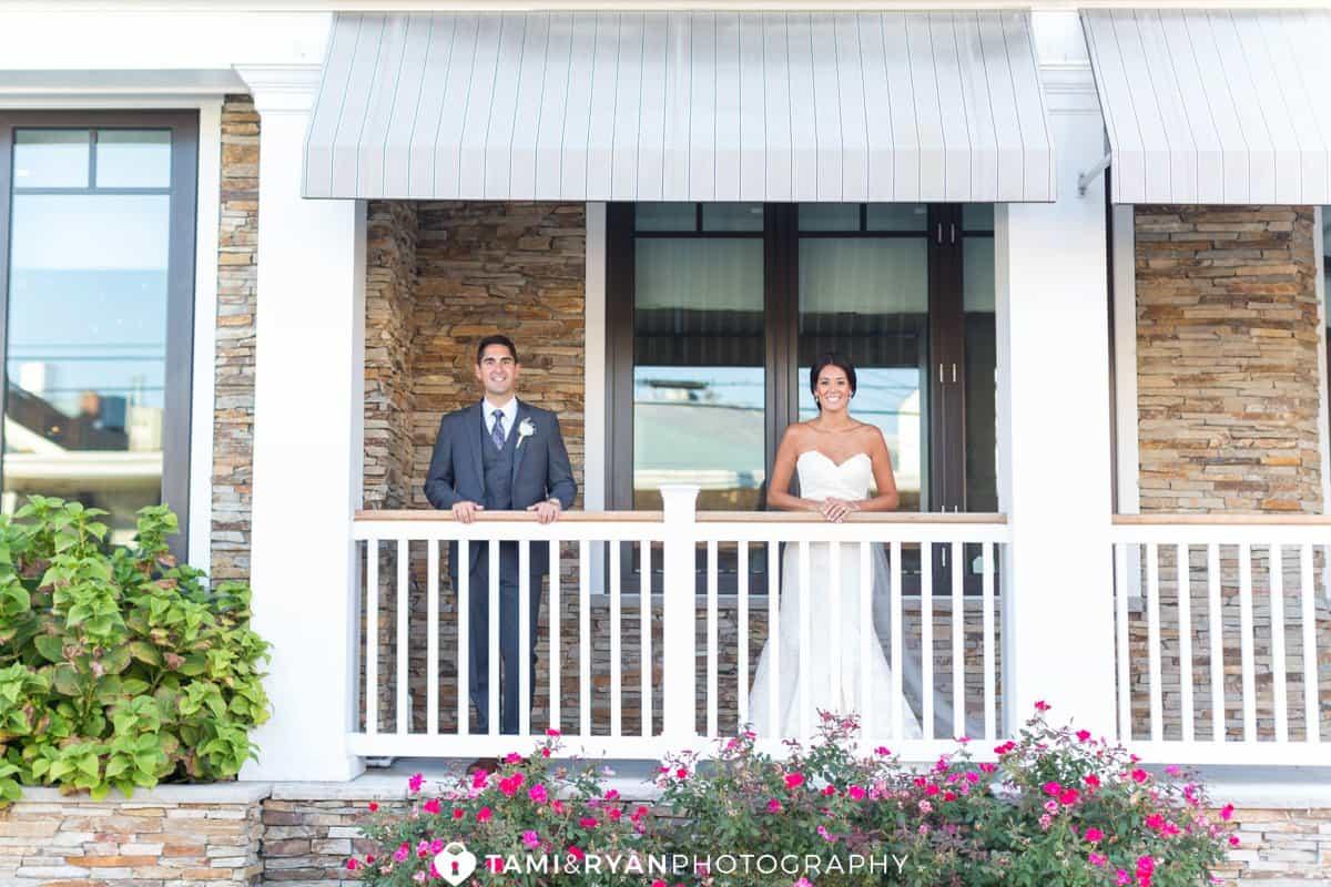 bride groom railing