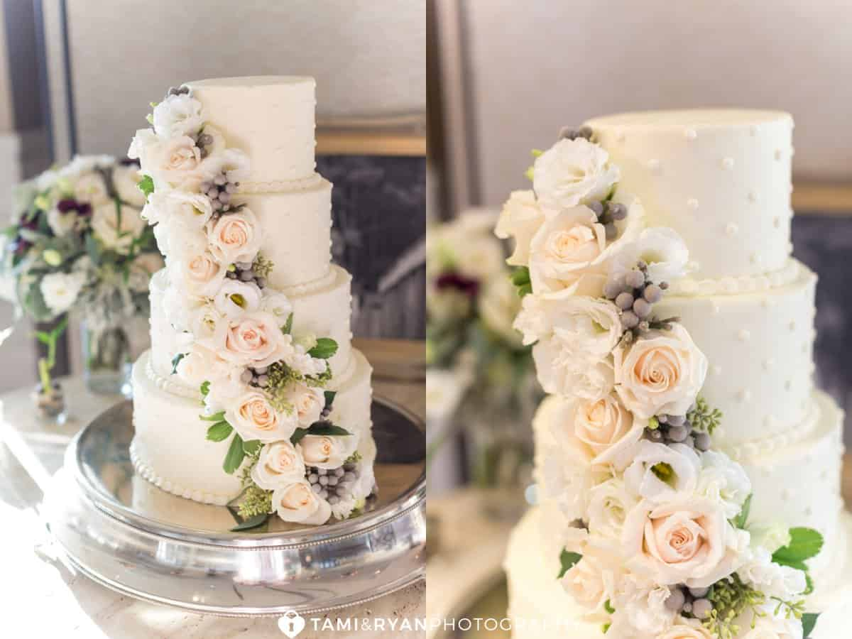 wedding cake white flowers