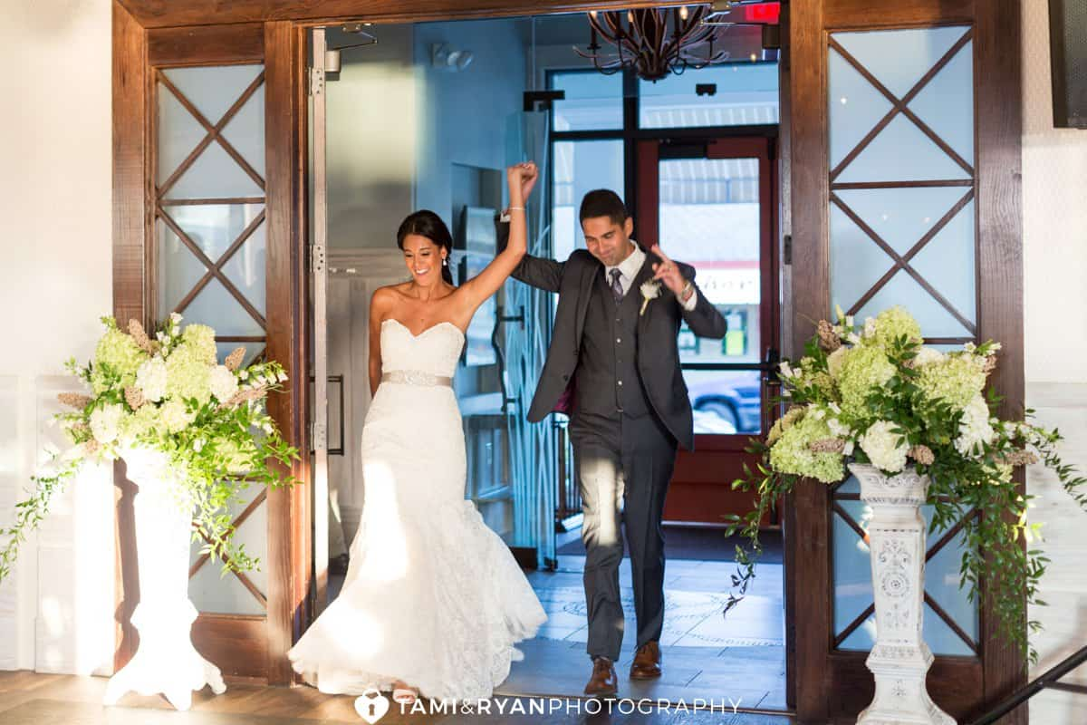 bride groom ballroom entrance