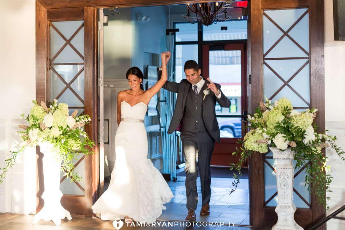 bride groom ballroom entrance