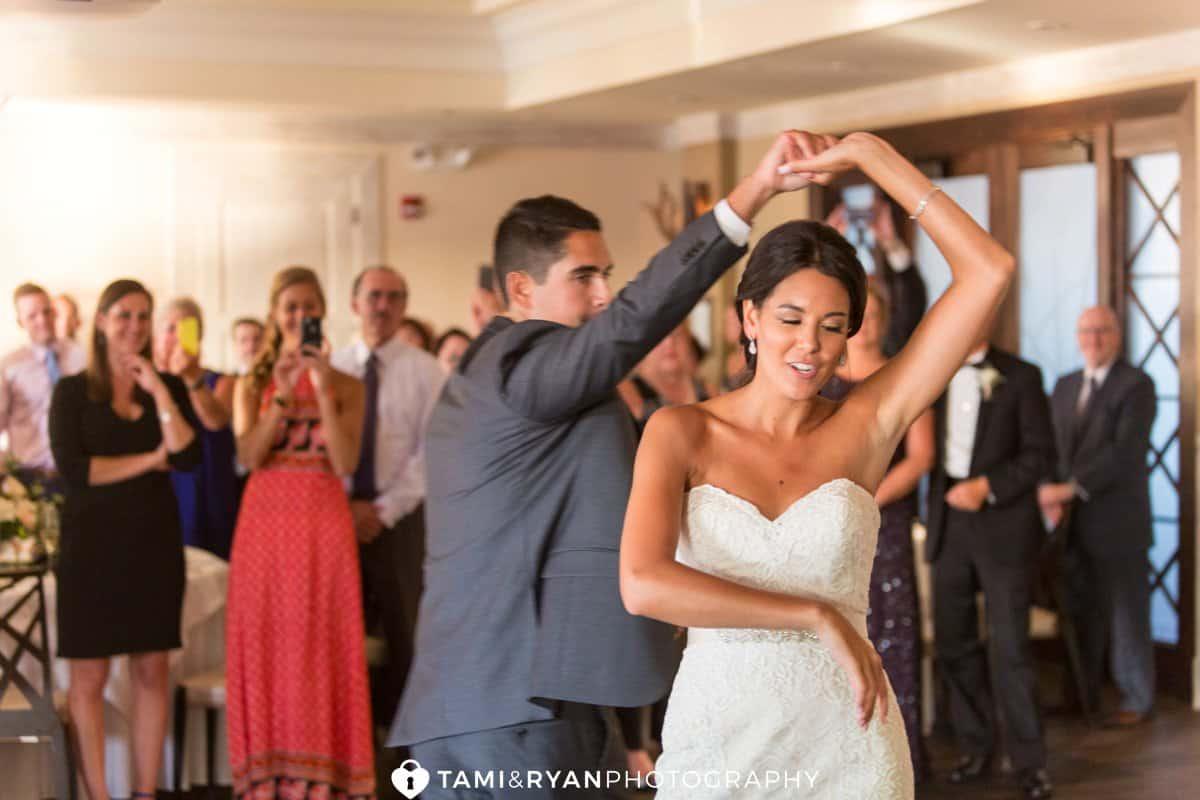 groom twirl bride first dance