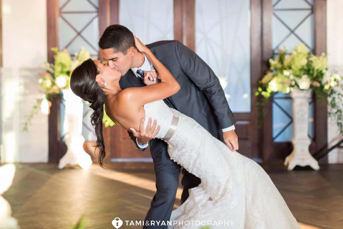 groom dip bride first dance