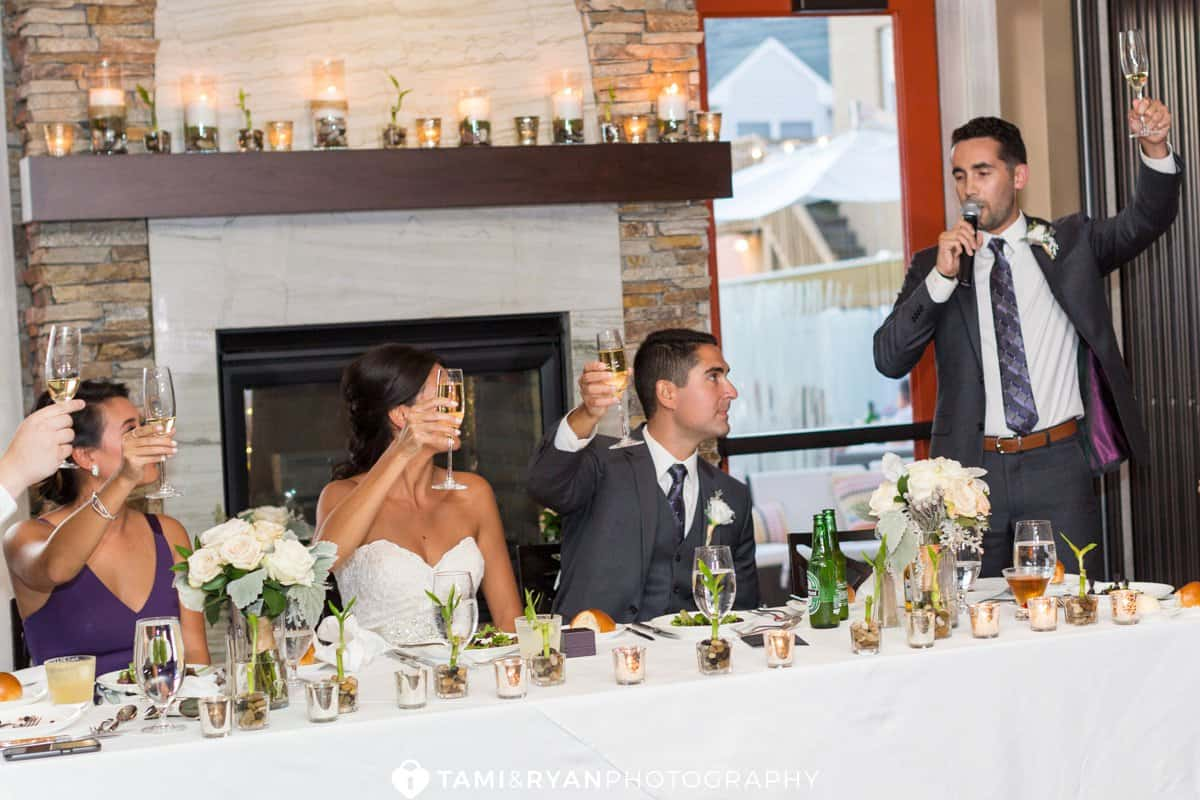 bride groom toasts