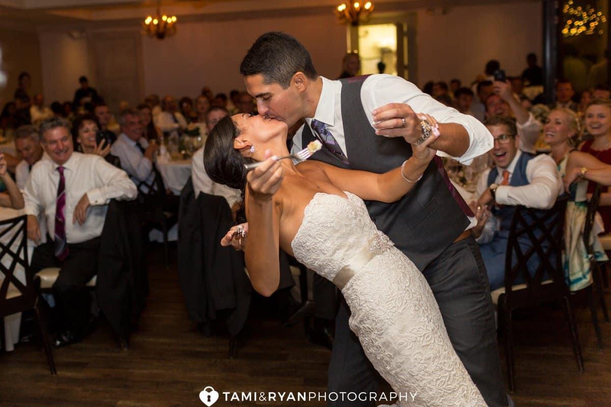 bride groom kiss cake
