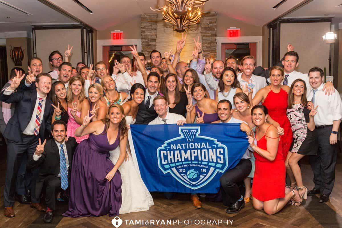 wedding villanova NCAA champions