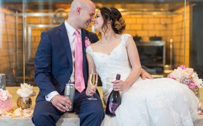 A Fun, Elegant Blush and Navy Wedding at Aqimero, Inside the Ritz Carlton Philadelphia