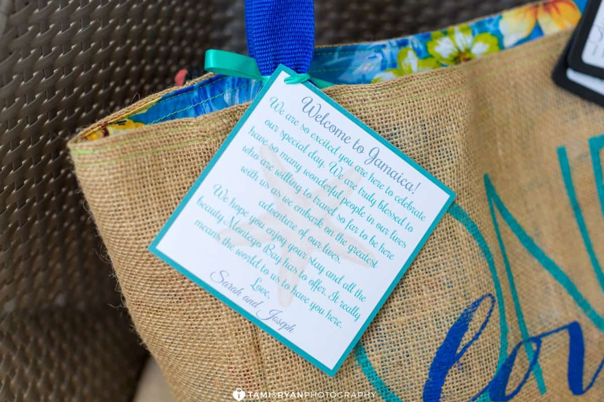 destination wedding jamaica welcome bag