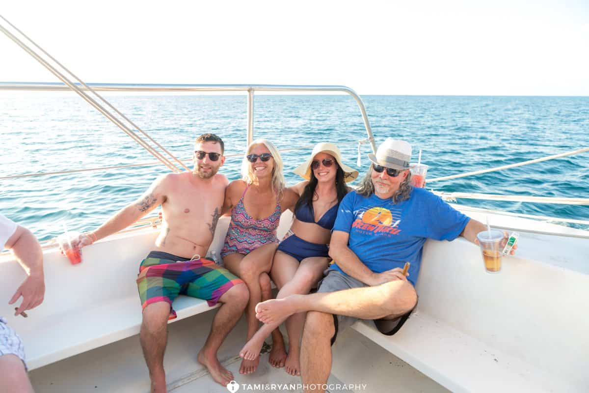dreamer catamaran cruise wedding welcome party