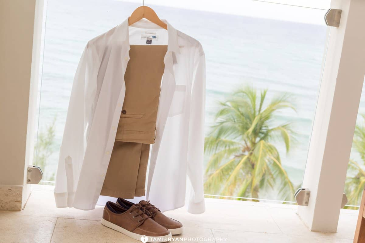destination groom attire