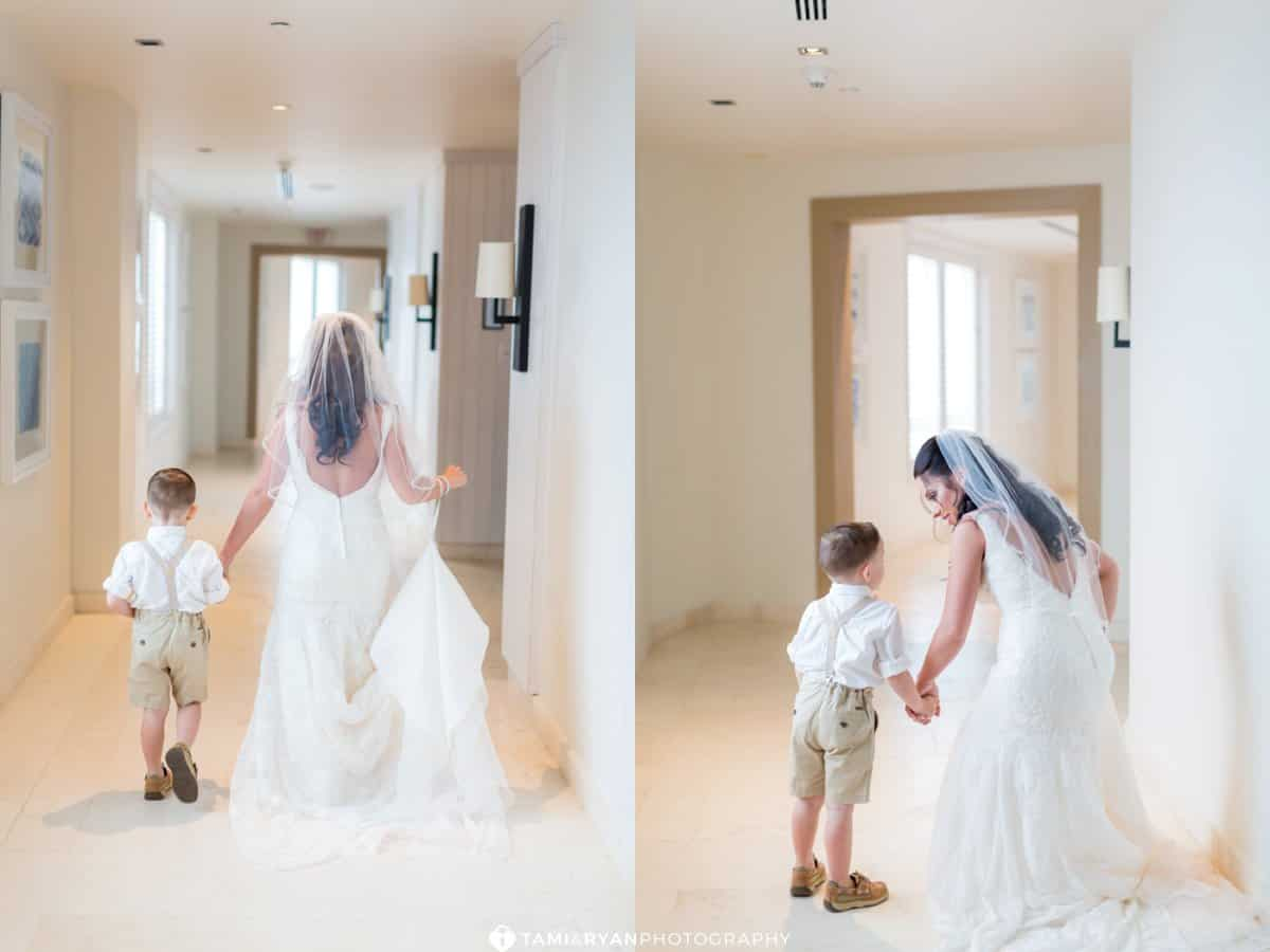 bride son walking dress
