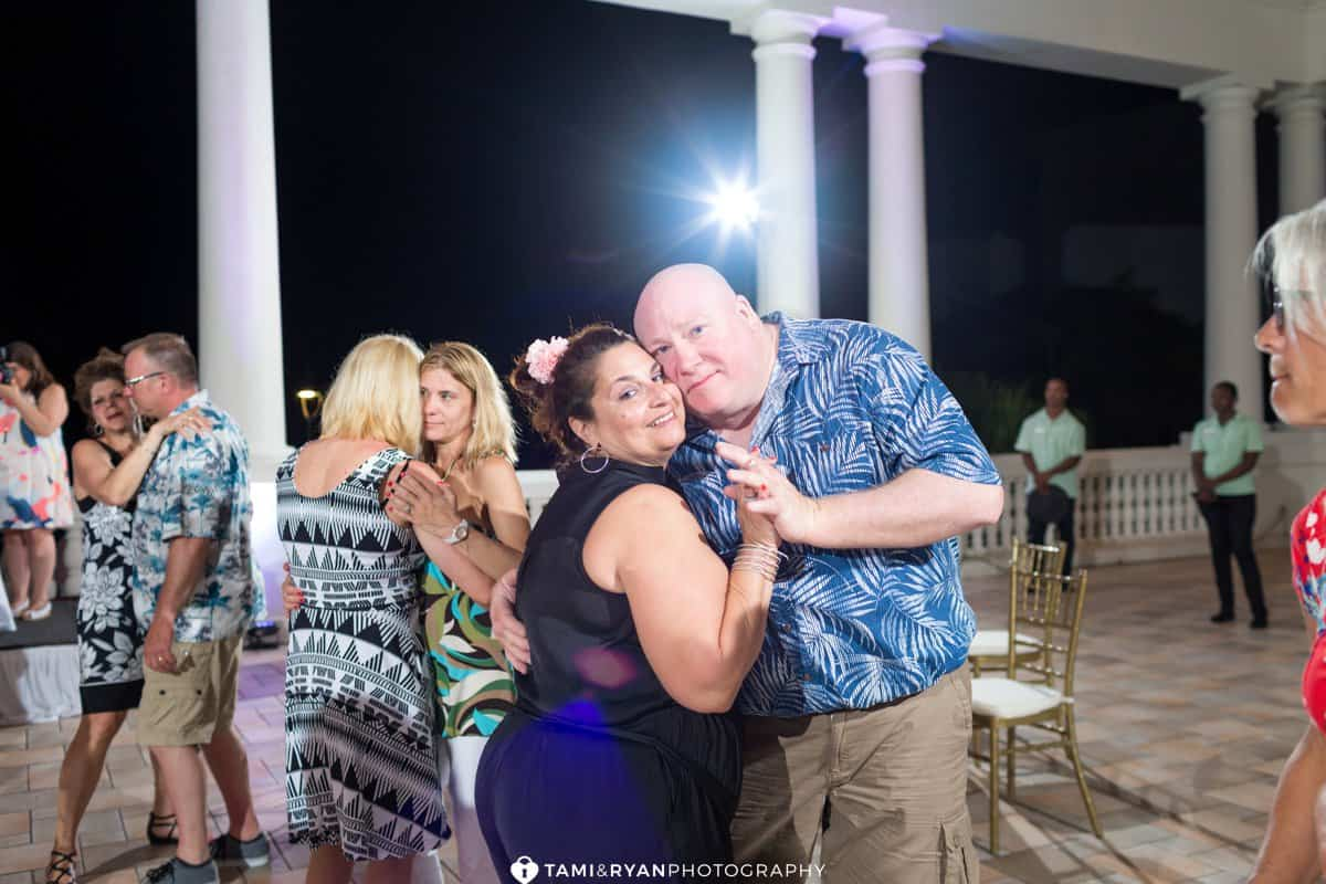 destination wedding reception party fun dancing