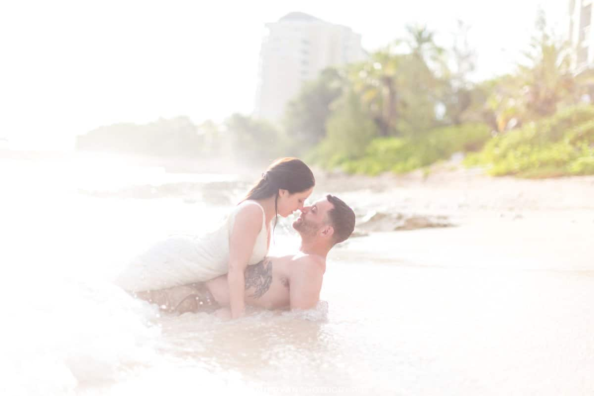 jamaica sunrise destination wedding trash the dress