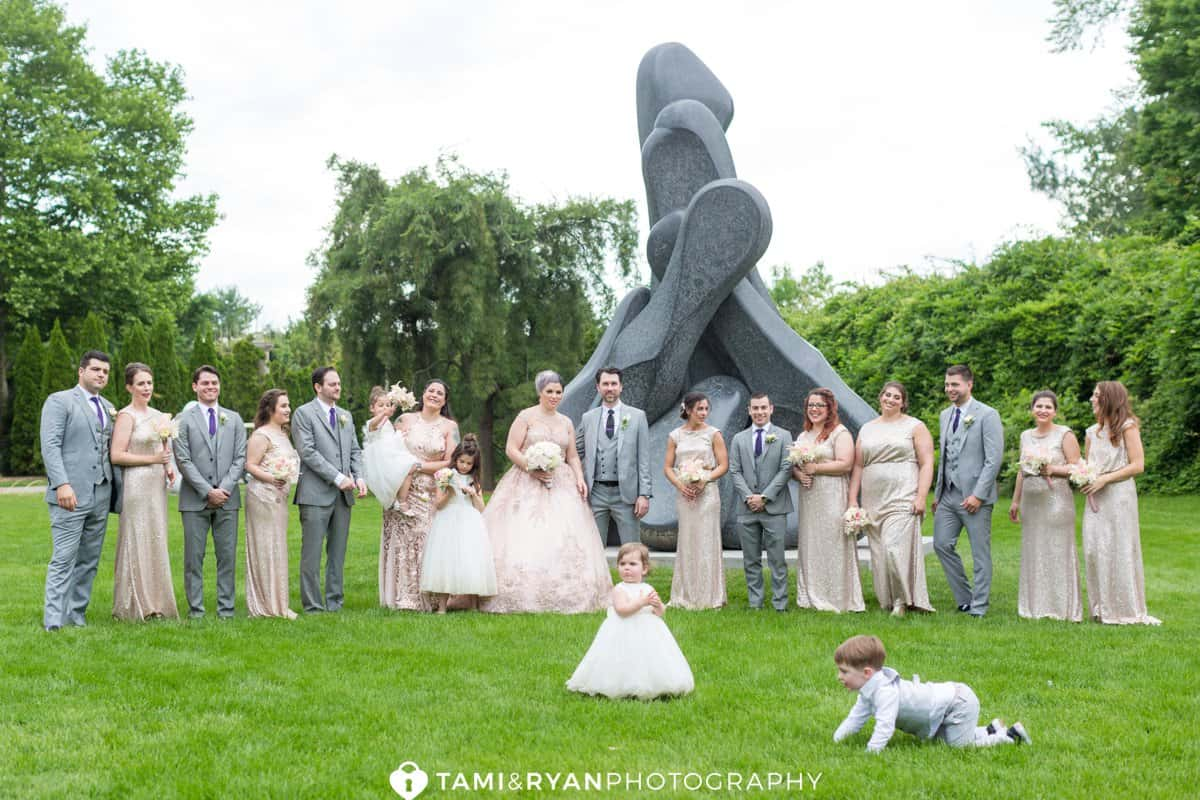 grounds for sculpture bridal party