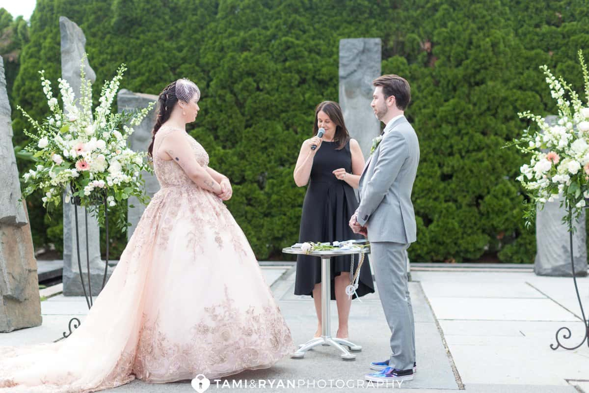 grounds for sculpture ceremony wedding nine muses