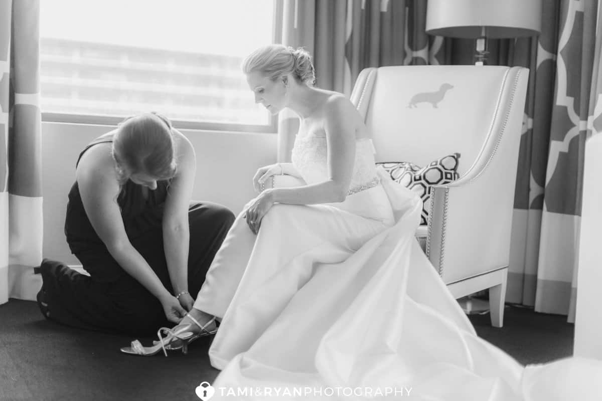 bride getting ready hotel monaco