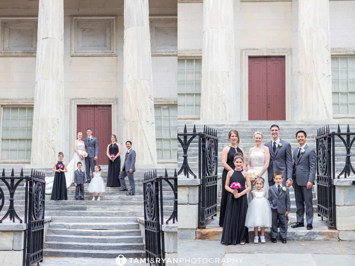 bridal party 2nd bank united states philadelphia