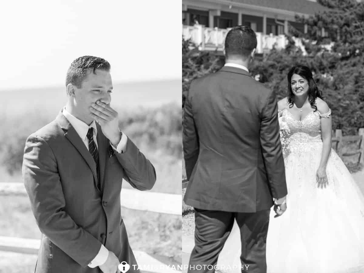 Bride Groom First Look Beach