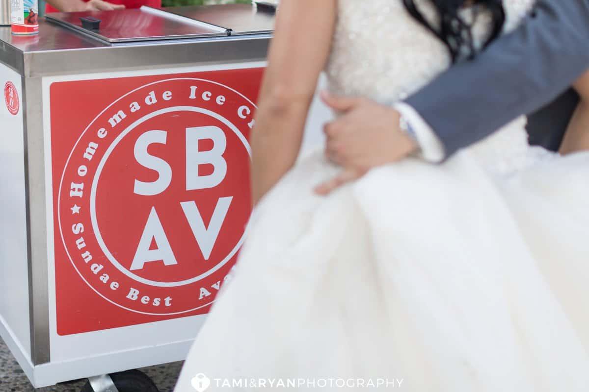 sundae best avalon bride groom ice cream