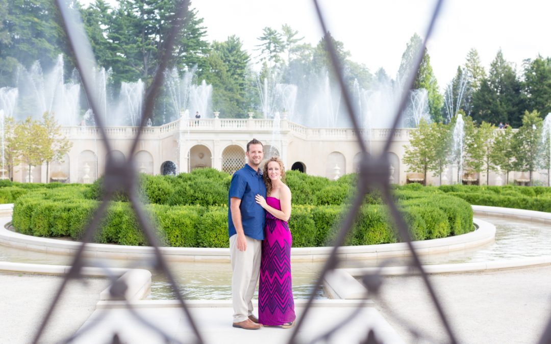 A Bright & Beautiful Longwood Gardens Engagement | Liz + Stephen