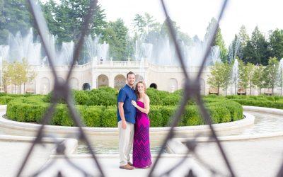 A Bright & Beautiful Longwood Gardens Engagement | Liz + Stephen