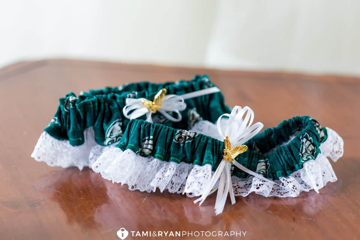 philadelphia eagles wedding garter