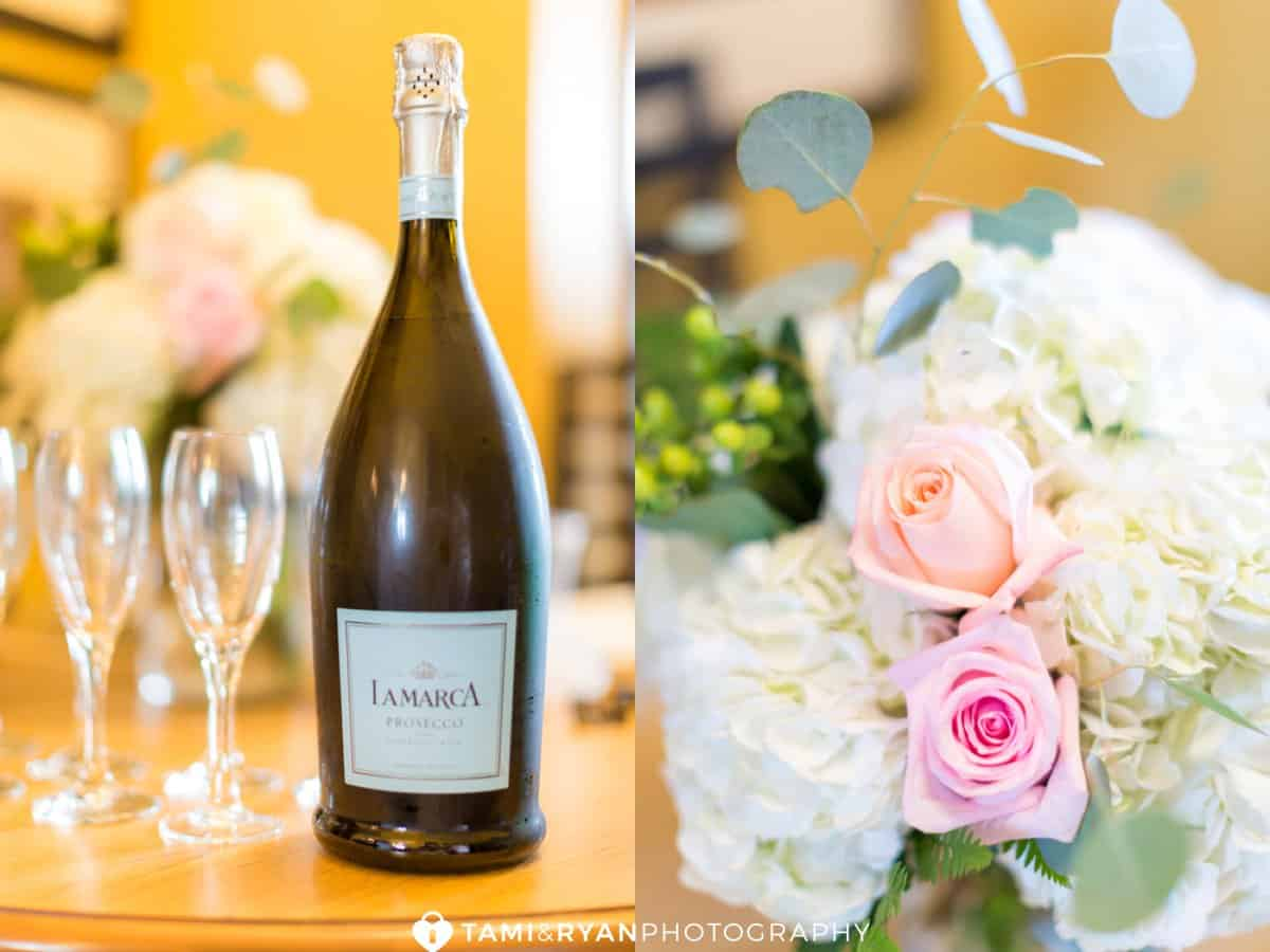 champagne flowers wedding