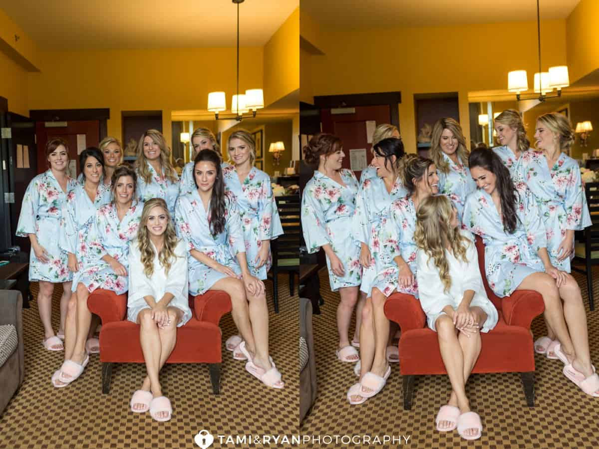 bride bridesmaids matching robes