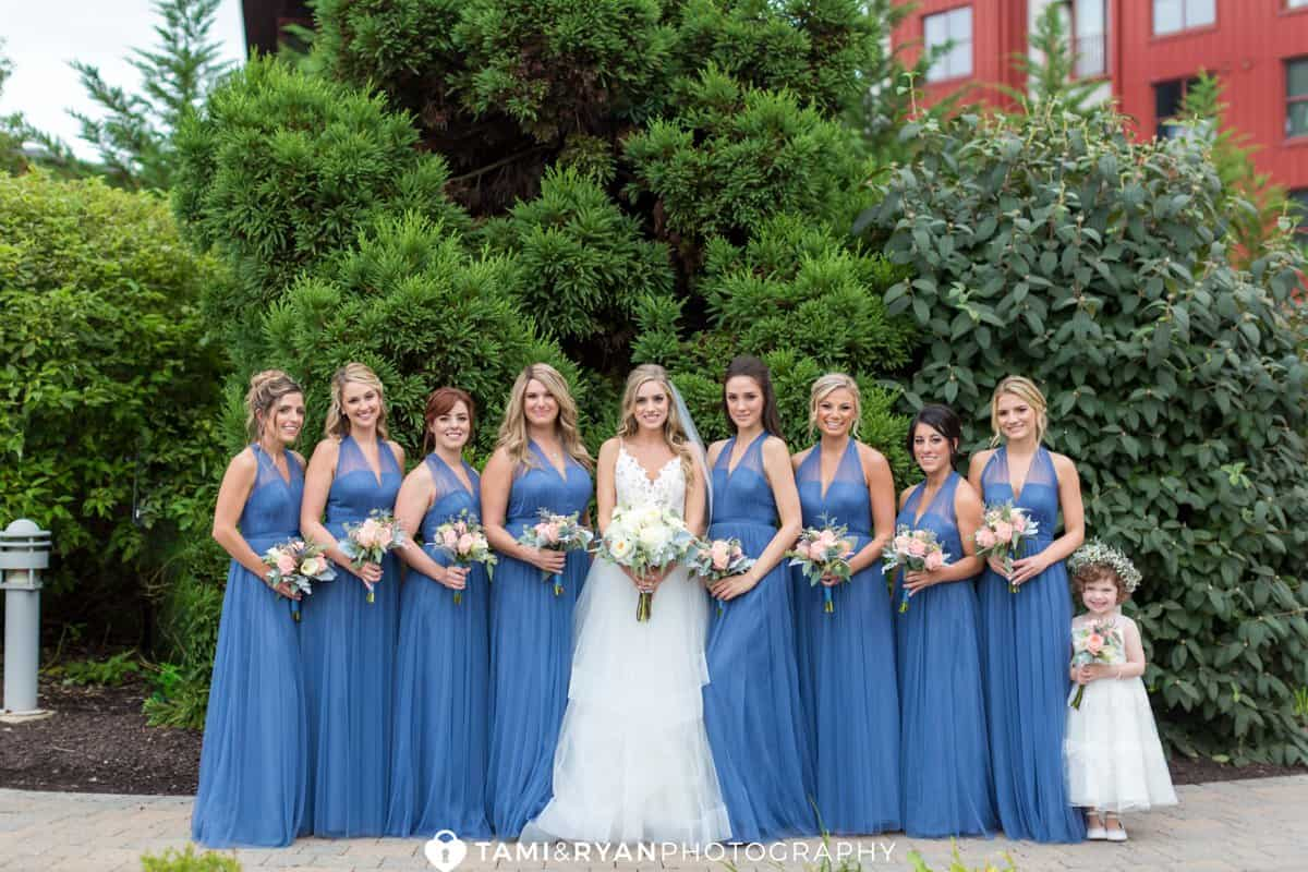 bride bridesmaids bear creek mountain