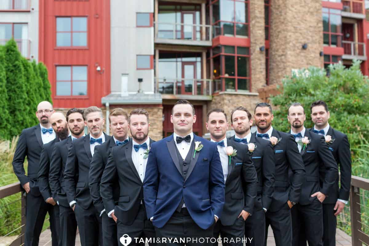 groom groomsmen bear creek mountain